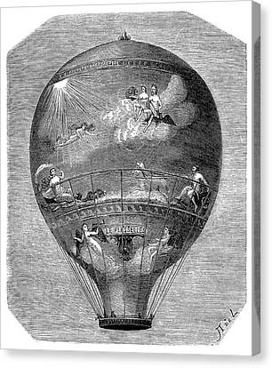 Montgolfier 'le Flesselles' Balloon Canvas Print by Science Photo Library