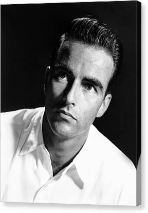Montgomery Clift, Ca. Early 1950s Canvas Print by Everett