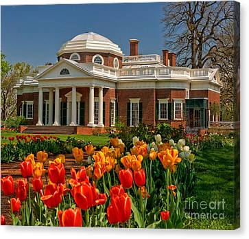 Monticello Canvas Print by Nigel Fletcher-Jones