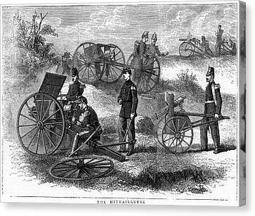 Montigny Mitrailleuse Rapid Fire Gun Canvas Print