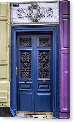 Montmartre Blue Two Canvas Print