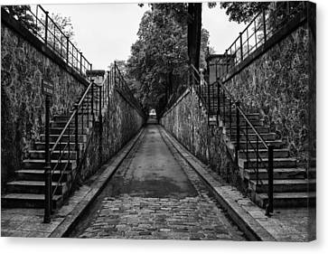 Montmartre Cemetery Canvas Print by Georgia Fowler