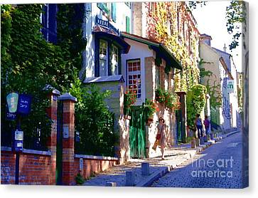Canvas Print featuring the photograph Walk In Montmartre  by Jacqueline M Lewis
