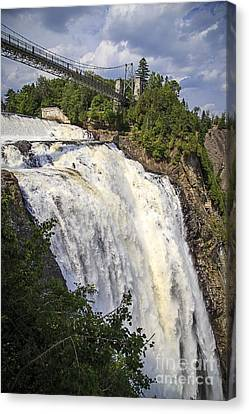 Montmorency Falls Park Quebec City Canada Canvas Print by Edward Fielding