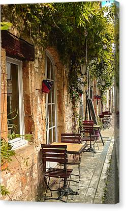 Canvas Print featuring the photograph French Cafe by Dany Lison