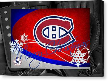 Montreal Canadiens Christmas Canvas Print by Joe Hamilton