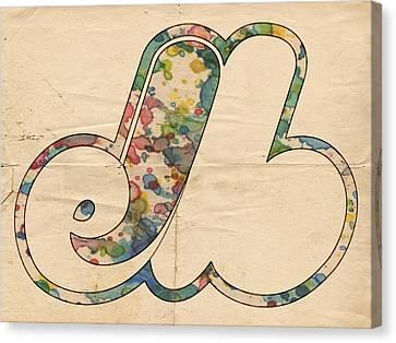 Montreal Expos Logo Vintage Canvas Print by Florian Rodarte