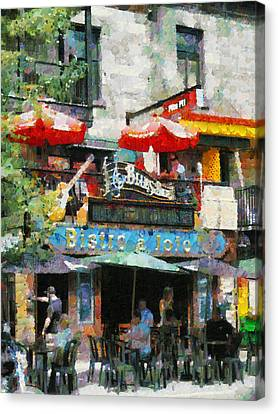 Montreal Latin Quater Canvas Print by Mick Flynn