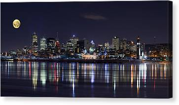 Montreal Night Canvas Print by Yuppidu