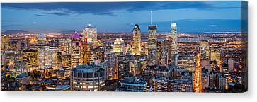 Canvas Print featuring the photograph Montreal Panorama by Mihai Andritoiu