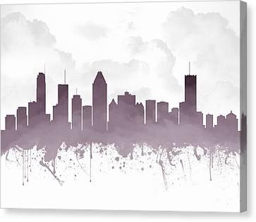 Montreal Quebec Skyline - Purple 03 Canvas Print