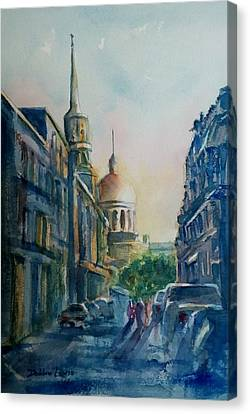 Montreal Skyline Canvas Print by Debbie Lewis