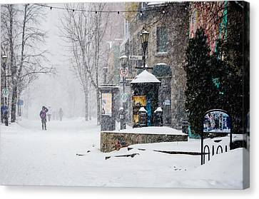 Montreal Snow Storm Canvas Print