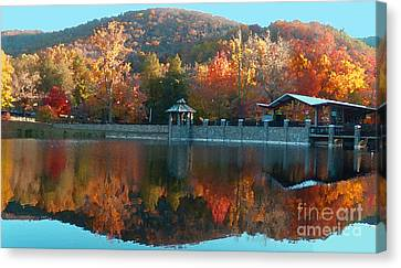 Montreat Autumn Canvas Print by Lydia Holly
