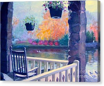 Montreat Porch Canvas Print by Gretchen Allen