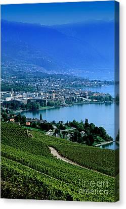 Montreux, Switzerland Canvas Print by Bill Bachmann