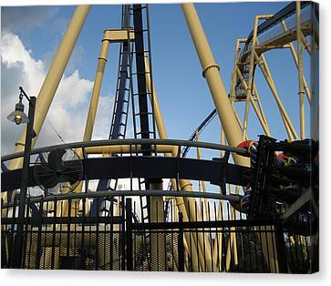 Coaster Canvas Print - Montu Roller Coaster - Busch Gardens Tampa - 011314 by DC Photographer
