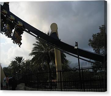 Montu Roller Coaster - Busch Gardens Tampa - 01138 Canvas Print