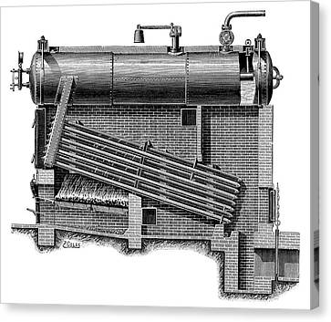 Montupet Boiler Canvas Print by Science Photo Library