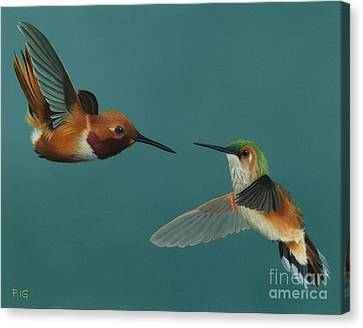 Monty And Tiffany Canvas Print