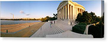 Monument At The Riverside, Jefferson Canvas Print by Panoramic Images