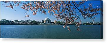 Monument At The Waterfront, Jefferson Canvas Print by Panoramic Images