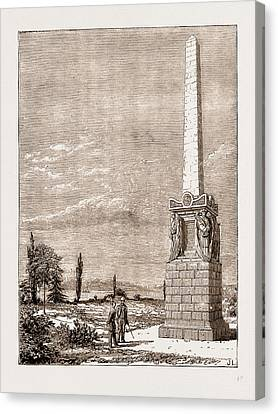 Monument In The British Graveyard, Scutari Canvas Print by Litz Collection