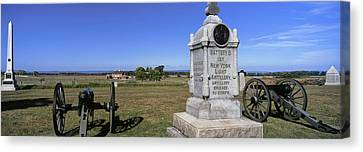Monument To Battery B, First New York Canvas Print by Panoramic Images