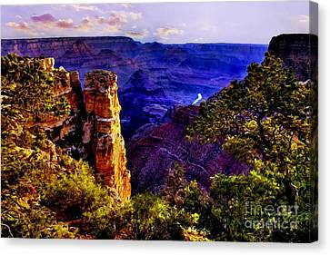Monument To Grand Canyon  Canvas Print by Bob and Nadine Johnston