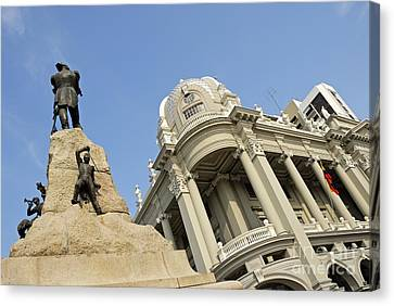 Monument To Mariscal Sucre Canvas Print by Sami Sarkis