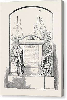 Monument To Sir John Franklin And His Companions Canvas Print by English School
