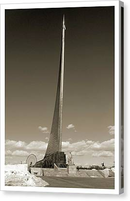 Titanium White Canvas Print - Monument To The Conquerors Of Space by Detlev Van Ravenswaay