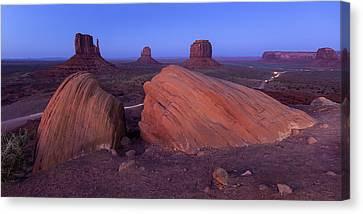 Monument Valley At Night Canvas Print by Maico Presente