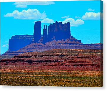 Monument Valley Blue Canvas Print