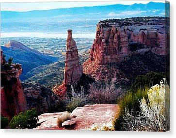Canvas Print featuring the photograph Monument Valley Colorado by Polly Peacock