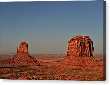 Monument Valley - East Mitten And Merrick Butte Canvas Print by Christine Till