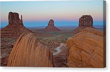Monument Valley Evening Canvas Print by Darlene Bushue
