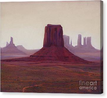 Monument Valley- Haze Canvas Print by Xenia Sease