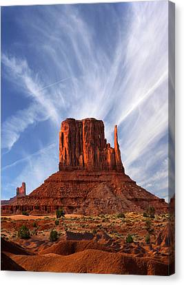 Monument Valley - Left Mitten 2 Canvas Print by Mike McGlothlen