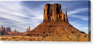 Navajo Nation Canvas Print - Monument Valley -  Left Mitten by Mike McGlothlen