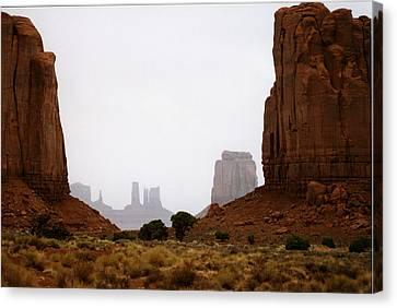 Monument Valley Mist Canvas Print