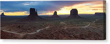 Northern Arizona Canvas Print - Monument Valley Navajo Tribal Park An Image Worth More Than A Thousand Words by Silvio Ligutti