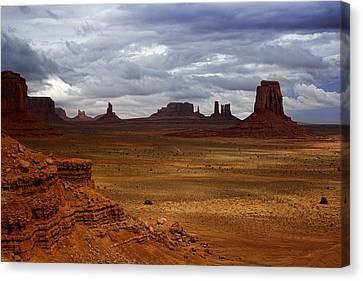Monument Valley Navajo Tribal Park Canvas Print by Ellen Heaverlo