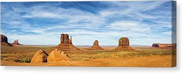 Monument Valley Canvas Print - Monument Valley Panorama - Arizona by Brian Harig