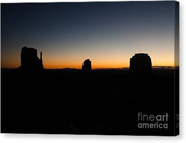 Monument Valley Sunrise Canvas Print by Jeff Kolker