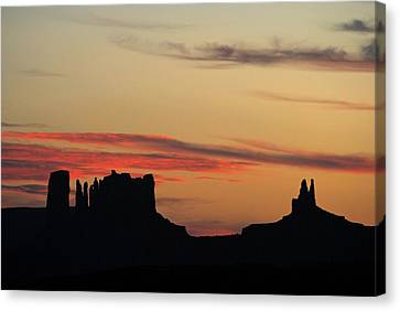 Monument Valley Sunset 1 Canvas Print