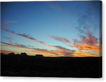 Monument Valley Sunset 2 Canvas Print