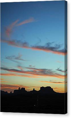 Monument Valley Sunset 3 Canvas Print