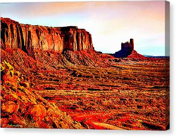 Monument Valley Sunset By Bob Johnston Canvas Print by Bob and Nadine Johnston