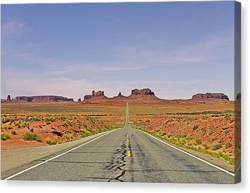 Monument Valley - The Classic View Canvas Print by Christine Till